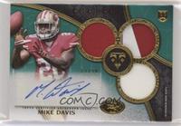 Rookie Autographed Triple Relics - Mike Davis #/50
