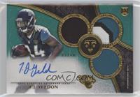 Rookie Autographed Triple Relics - T.J. Yeldon #/50