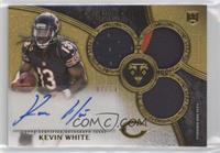 Rookie Autographed Triple Relics - Kevin White #/25