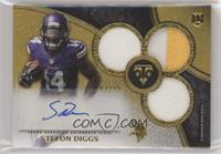 Rookie Autographed Triple Relics - Stefon Diggs #/25