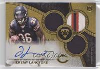 Rookie Autographed Triple Relics - Jeremy Langford #/25