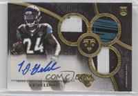 Rookie Autographed Triple Relics - T.J. Yeldon #/1