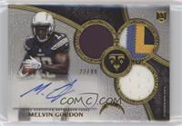 Rookie Autographed Triple Relics - Melvin Gordon /99