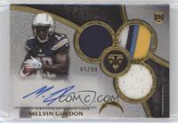 Rookie Autographed Triple Relics - Melvin Gordon #1/99