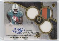 Rookie Autographed Triple Relics - DeVante Parker #/99