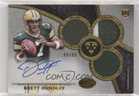 Rookie Autographed Triple Relics - Brett Hundley #/99