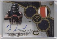 Rookie Autographed Triple Relics - Jeremy Langford /99