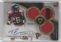 Rookie Autographed Triple Relics - Tevin Coleman #/99