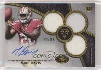 Rookie Autographed Triple Relics - Mike Davis /99
