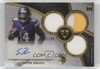 Rookie Autographed Triple Relics - Stefon Diggs /99