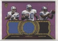 Barry Sanders, Calvin Johnson, Matthew Stafford #/27