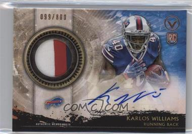 2015 Topps Valor - Shield of Honor Autograph Patches #SHA-KWI - Karlos Williams /800