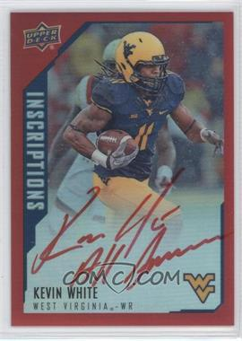 2015 Upper Deck Inscriptions -  Base  - Red  KW - Kevin White  75 ... b8158118b