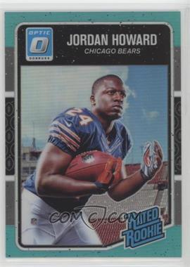 2016 Donruss Optic - [Base] - Aqua #177 - Rated Rookies - Jordan Howard /299
