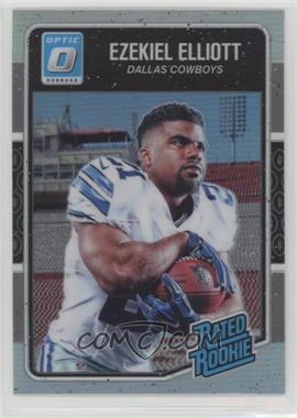 2016 Donruss Optic - [Base] - Holo #168 - Rated Rookies - Ezekiel Elliott