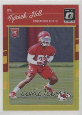 2016 Donruss Optic - [Base] - Red and Yellow #117 - Rookies - Tyreek Hill