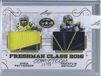 Shea Patterson, Dekaylin Metcalf [Uncirculated] #/20