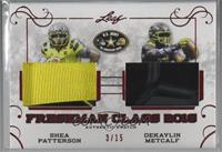 Shea Patterson, Dekaylin Metcalf [Noted] #/15