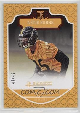 2016 Panini - [Base] - Red Knight #256 - Rookies - Artie Burns /49