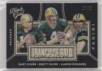 Brett Favre, Aaron Rodgers, Bart Starr /50