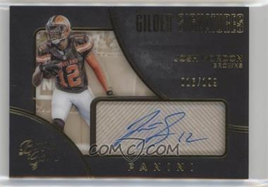2016 Panini Black Gold - Gilded Signatures #GL-JG - Josh Gordon /199