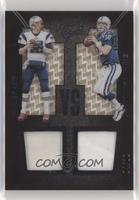 Peyton Manning, Tom Brady [Noted] #/10