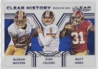 DeSean Jackson, Kirk Cousins, Matt Jones #/99