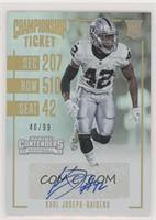 Rookie Ticket - Karl Joseph /99