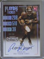 Rookie Ticket RPS Variation - Paul Perkins #/99