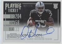 Rookie Ticket RPS Variation - DeAndre Washington /199