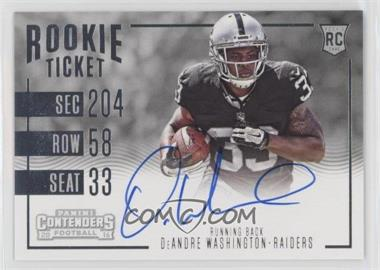 2016 Panini Contenders - [Base] #363 - Rookie Ticket RPS Variation - DeAndre Washington