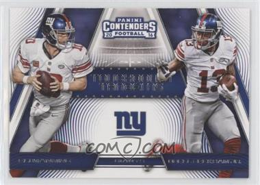 2016 Panini Contenders - Touchdown Tandems #8 - Odell Beckham Jr., Eli Manning
