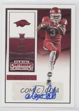 2016 Panini Contenders Draft Picks - [Base] #115.1 - College Ticket - Alex Collins (Base)