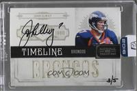 John Elway (2012 Panini National Treasures) /5 [ENCASED]