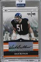 Dick Butkus (2008 Donruss Silver Signatures) /99 [ENCASED]