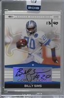 Billy Sims (2008 Donruss Silver Signatures) /40 [Buy Back]