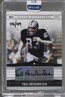 Ted Hendricks (2008 Donruss Playoff Silver Signatures) /99 [BuyBack]