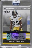 Nate Washington (2008 Playoff Silver Signatures) /58 [ENCASED]