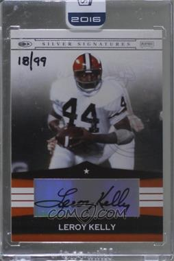 2016 Panini Honors - Recollection Collection #08PSS-SS-LK - Leroy Kelly (2008 Playoff Silver Signature) /99 [Buy Back]
