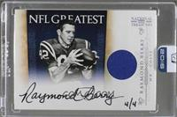Raymond Berry (2011 Panini National Treasures) [Buy Back] #/4