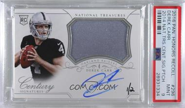 2016 Panini Honors - Recollection Collection #14NT-296 - Derek Carr (2014 National Treasures Silver) /2 [PSA9MINT]