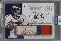 John Elway (2014 Panini National Treasures) [Buy Back] #/1