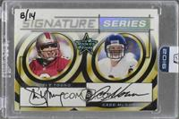 Steve Young, Cade McNown (1999 Leaf Rookies & Stars) /14 [ENCASED]