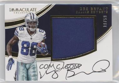 2016 Panini Immaculate Collection - Premium Patch Autographs #DB - Dez Bryant /50