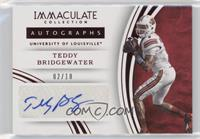 Autographs - Teddy Bridgewater /10