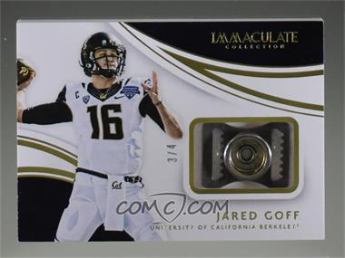 2016 Panini Immaculate Collection Collegiate - Chin Snap #1 - Jared Goff /4