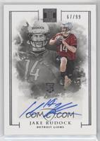 Rookie Autographs - Jake Rudock #/99