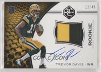 Rookie Patch Autographs - Trevor Davis #/49