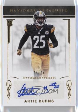 2016 Panini National Treasures - [Base] - Gold #145 - Rookie Signatures - Artie Burns /49