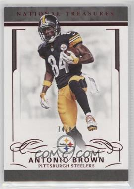 2016 Panini National Treasures - [Base] - Red Jersey Number #83 - Antonio Brown /84